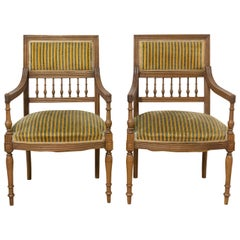 Pair of Louis XVI Revival Armchairs French, Early 20th Century