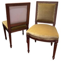 Pair of Louis XVI Side Chairs