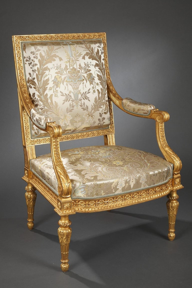 Pair of Louis XVI Style Armchairs  In Good Condition For Sale In PARIS, FR