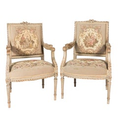Pair of Louis XVI Style Armchairs, circa 1900