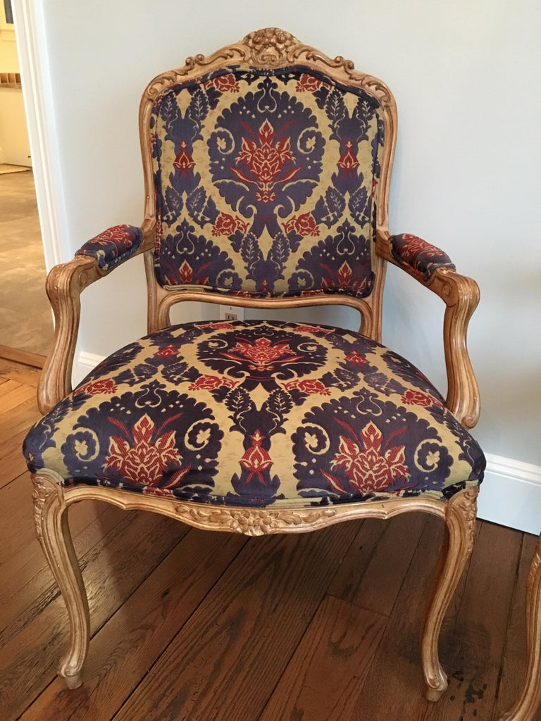 American Pair of Louis XVI Style Armchairs For Sale