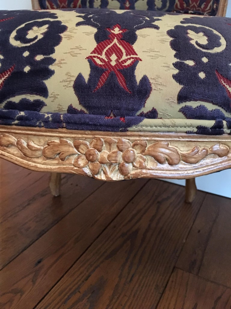 Contemporary Pair of Louis XVI Style Armchairs For Sale