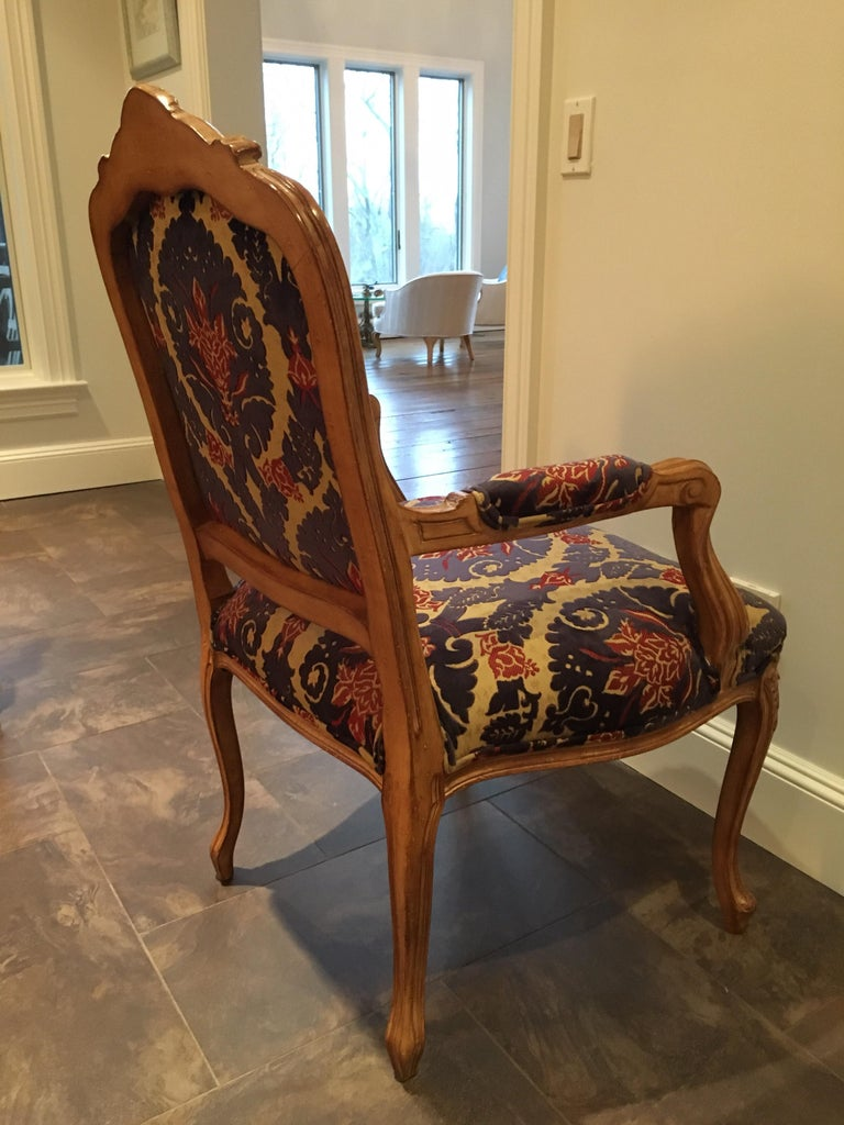 Pair of Louis XVI Style Armchairs For Sale 2