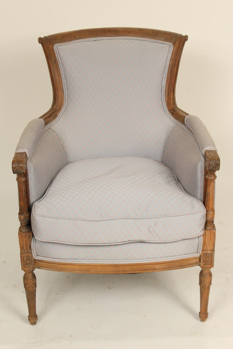 Unknown Pair of Louis XVI Style Bergeres For Sale