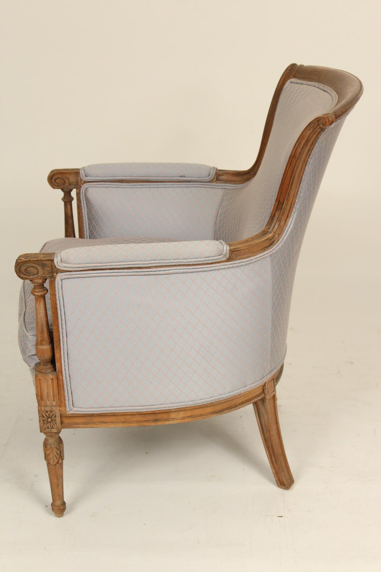 Pair of Louis XVI Style Bergeres In Good Condition For Sale In Laguna Beach, CA