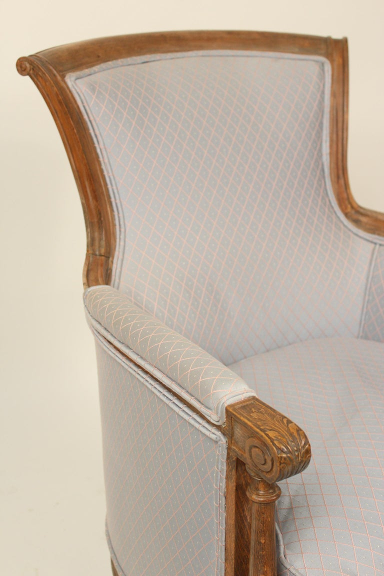 Beech Pair of Louis XVI Style Bergeres For Sale
