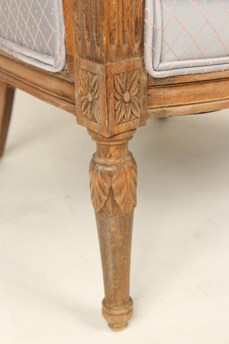 Pair of Louis XVI Style Bergeres For Sale 3