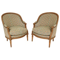 Pair of Louis XVI Style Bergères
