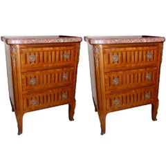 Pair of Neoclassic Nightstands
