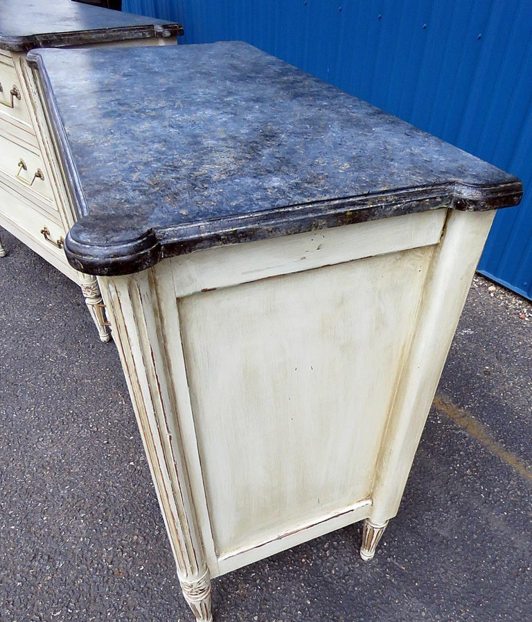 20th Century Pair of Louis XVI Style Commodes