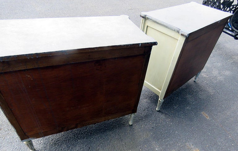 Wood Pair of Louis XVI Style Commodes