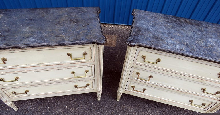 Pair of Louis XVI Style Commodes 2