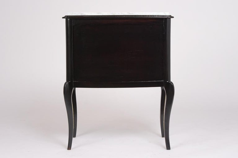 Pair of Louis XVI Style Ebonzied Nightstands For Sale 1
