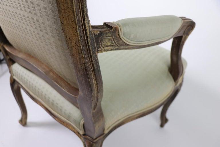 Pair of Louis XVI Style Fauteuils For Sale 2