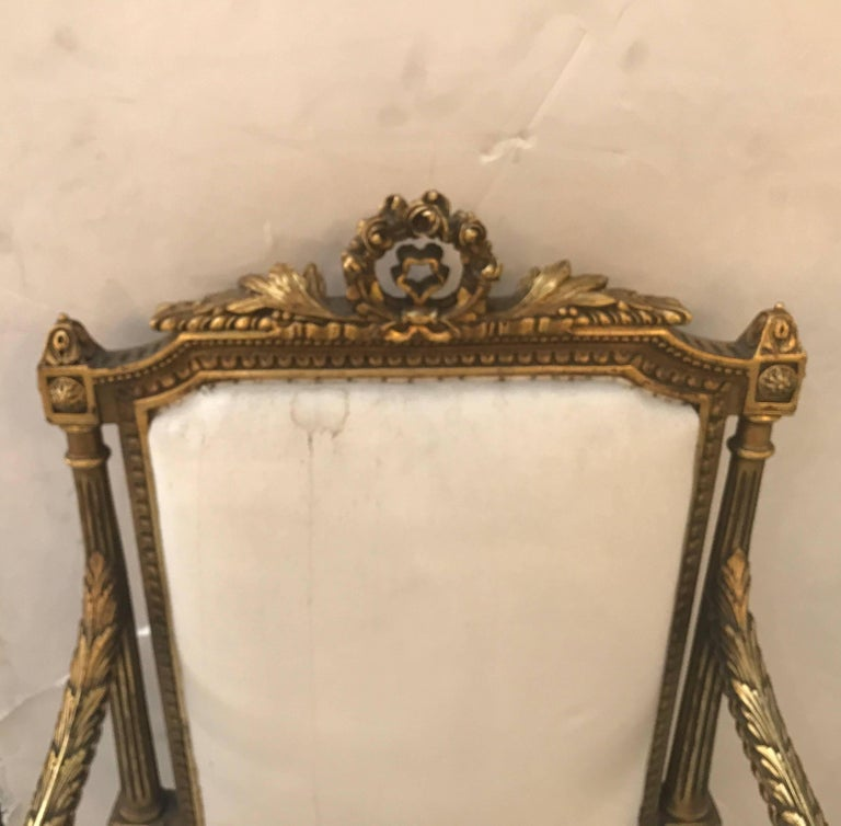 Pair of Louis XVI Style Giltwood Chairs In Excellent Condition In Lambertville, NJ