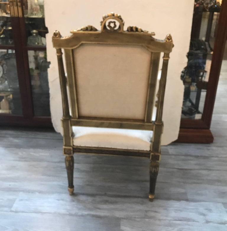 Pair of Louis XVI Style Giltwood Chairs 4