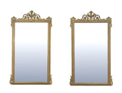Pair of Louis XVI Style Giltwood Pier Mirrors, circa 1840