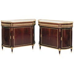 Pair of Louis XVI Style Mahogany Side Cabinets by Maison Millet, circa 1890