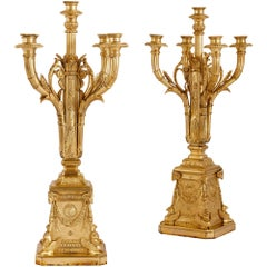Pair of Louis XVI Style Ormolu Candelabra by Susse Frères