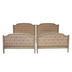 Pair of Louis XVI Style Painted Beds