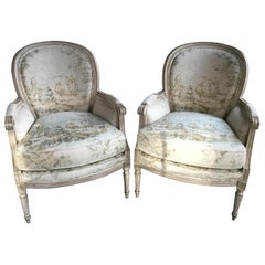 Pair of Louis XVI Style Painted Chairs