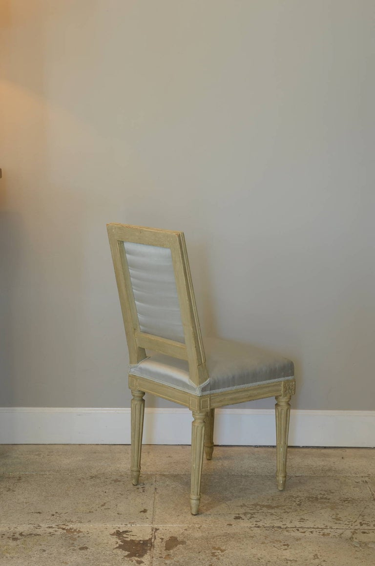 Pair of Louis XVI Style Side Chairs by Armand-Albert Rateau In Good Condition For Sale In Los Angeles, CA