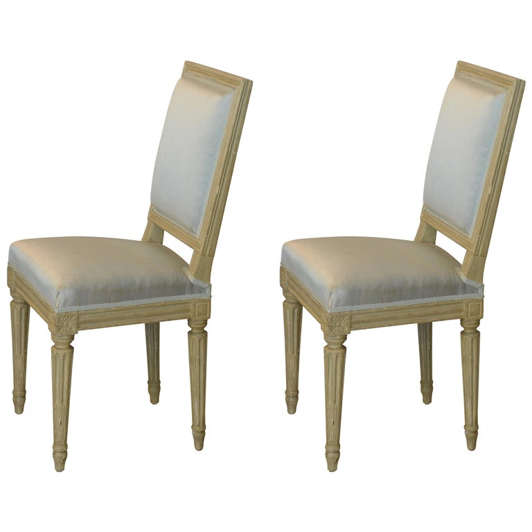 Pair of Louis XVI Style Side Chairs by Armand-Albert Rateau For Sale