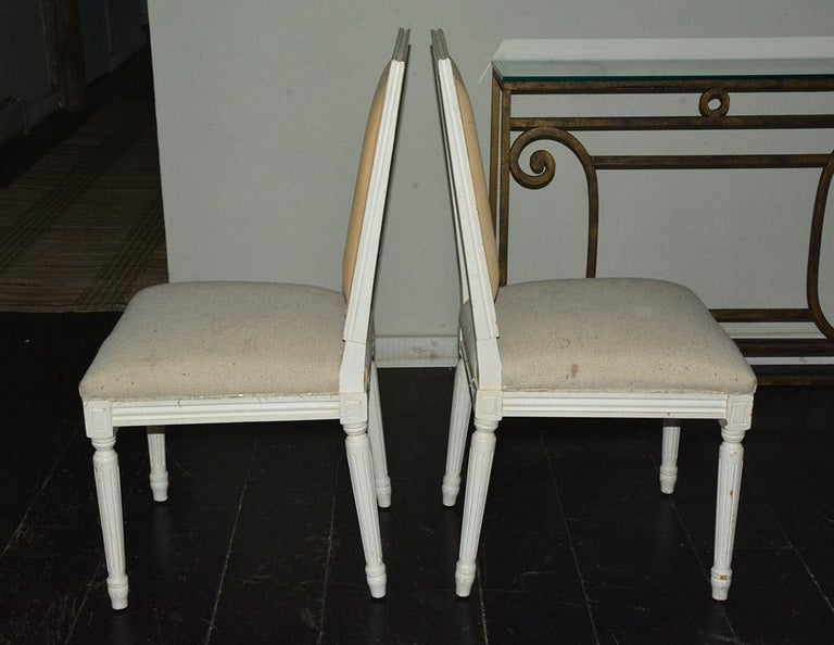Pair of Louis XVI Style Side Chairs In Good Condition For Sale In Great Barrington, MA