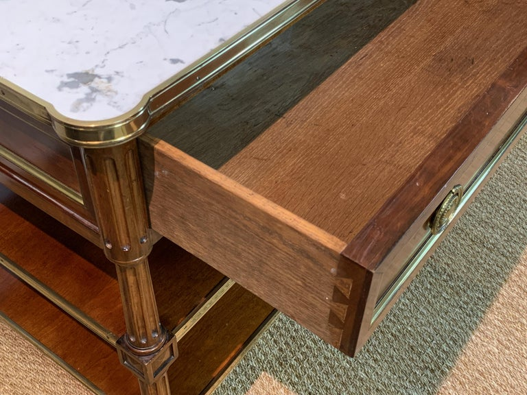 Pair of Louis XVI Style Side Tables For Sale 2
