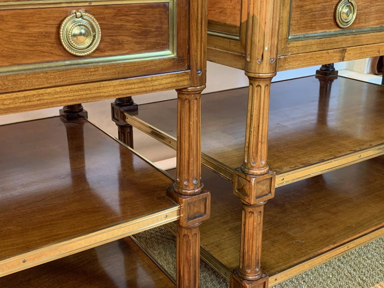 Pair of Louis XVI Style Side Tables For Sale 5