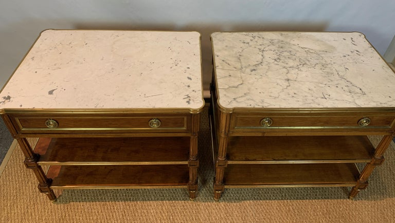 Mid-20th Century Pair of Louis XVI Style Side Tables For Sale