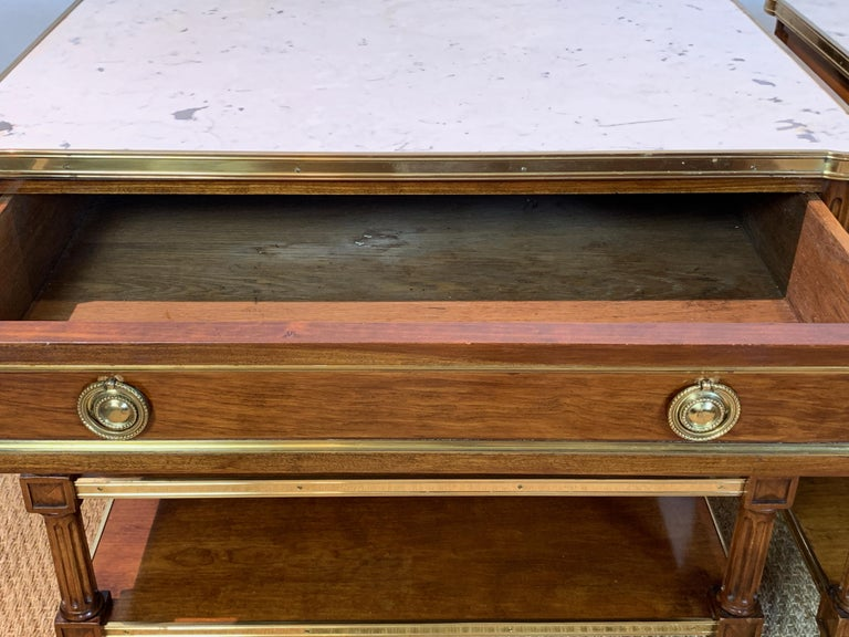 Pair of Louis XVI Style Side Tables For Sale 1