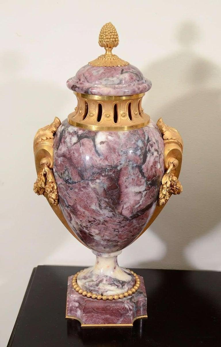European Pair of Louis XVI Style Urns For Sale