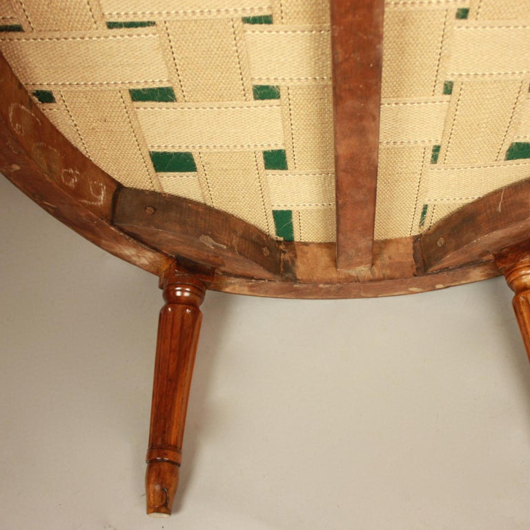 Pair of Louis XVI Walnut Bergeres or Armchairs, French, circa 1780 For Sale 8