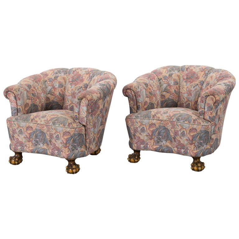 Pair of Lounge Armchairs For Sale