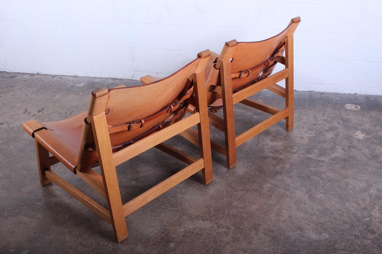 Pair of Lounge Chairs by Børge Mogensen For Sale 5