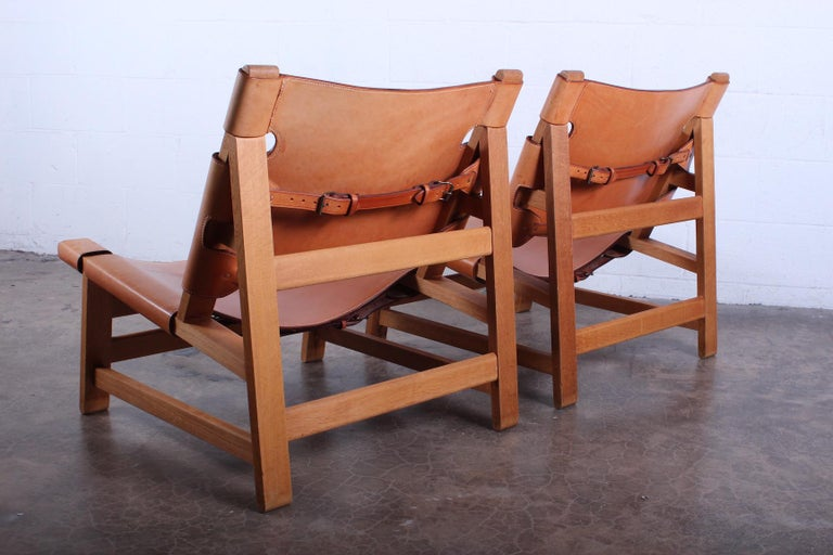 Pair of Lounge Chairs by Børge Mogensen For Sale 6