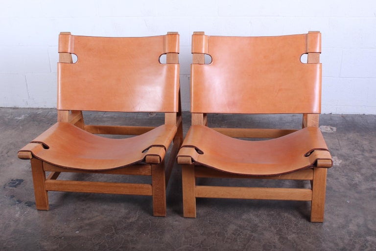 Pair of Lounge Chairs by Børge Mogensen For Sale 10