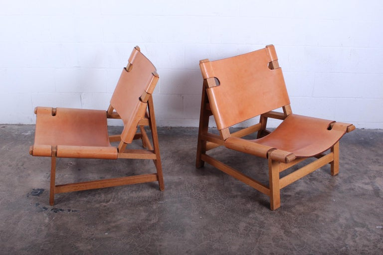 Pair of Lounge Chairs by Børge Mogensen In Good Condition For Sale In Dallas, TX