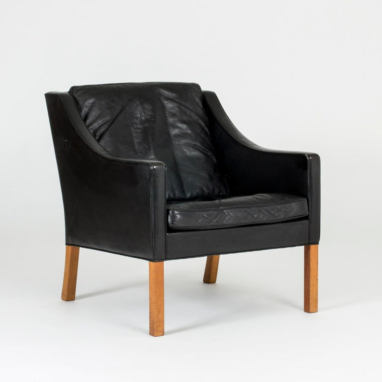 Pair of Lounge Chairs by Børge Mogensen In Excellent Condition For Sale In Stockholm, SE