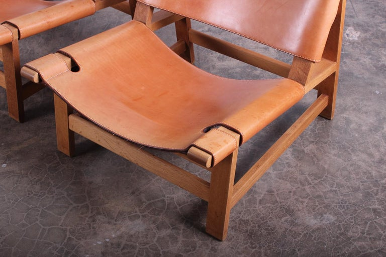 Pair of Lounge Chairs by Børge Mogensen For Sale 1
