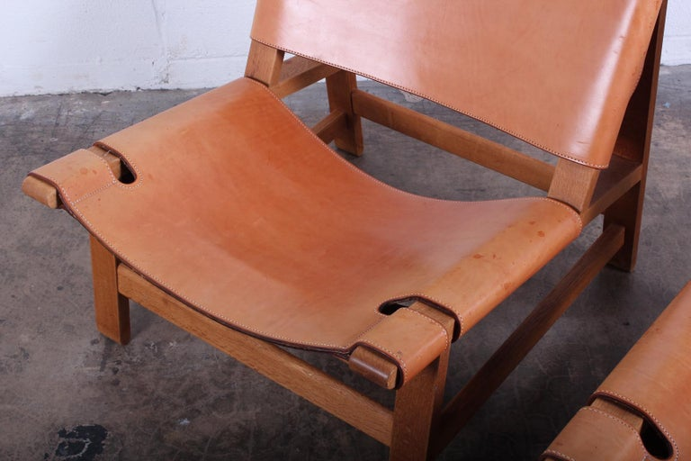 Pair of Lounge Chairs by Børge Mogensen For Sale 2