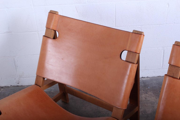 Pair of Lounge Chairs by Børge Mogensen For Sale 3