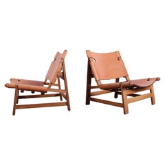Pair of Lounge Chairs by Børge Mogensen