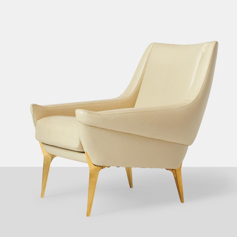 French Pair of Lounge Chairs by Charles Ramos For Sale