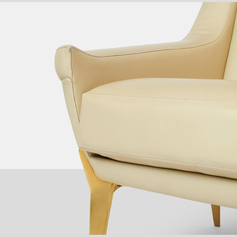 Pair of Lounge Chairs by Charles Ramos For Sale 2