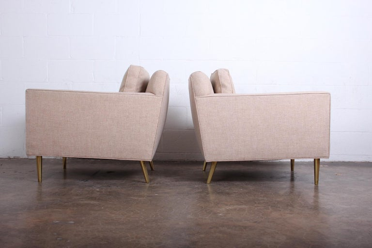 Pair of Lounge Chairs by Edward Wormley for Dunbar For Sale 5