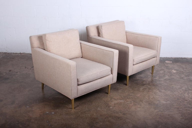 Pair of Lounge Chairs by Edward Wormley for Dunbar In Good Condition For Sale In Dallas, TX