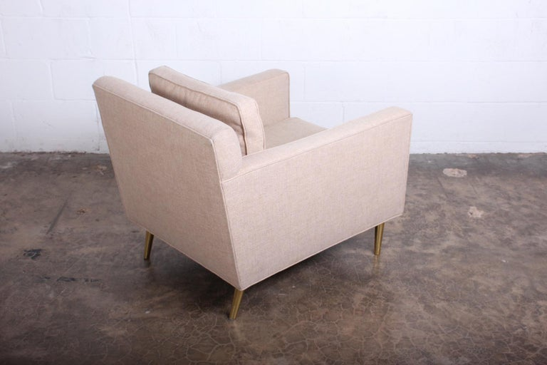 Pair of Lounge Chairs by Edward Wormley for Dunbar For Sale 3