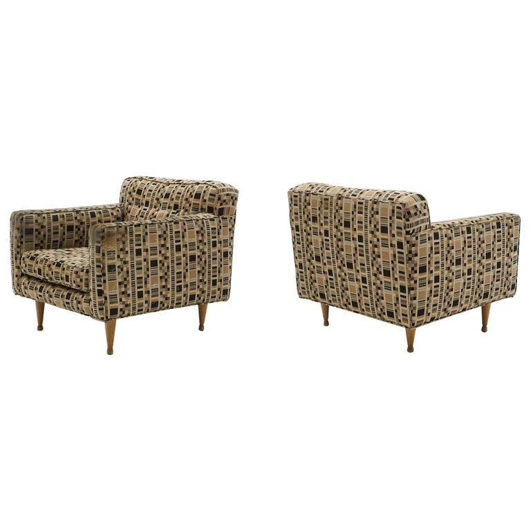 Pair of Lounge Chairs by Edward Wormley for Dunbar, Priced for Reupholstery For Sale